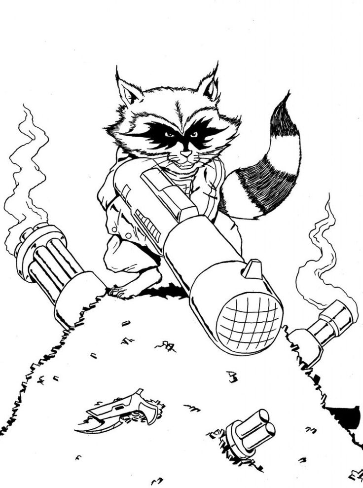 for sunday school Free Printable Raccoon Coloring Pages For Kids preschool