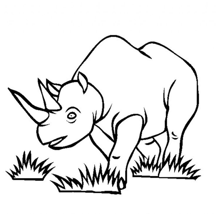 for kindergarten Free Printable Rhinoceros Coloring Pages For Kids to print out