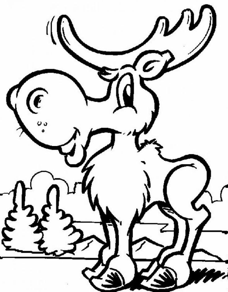 Images of Moose Coloring Page Moose Coloring Page Free ...