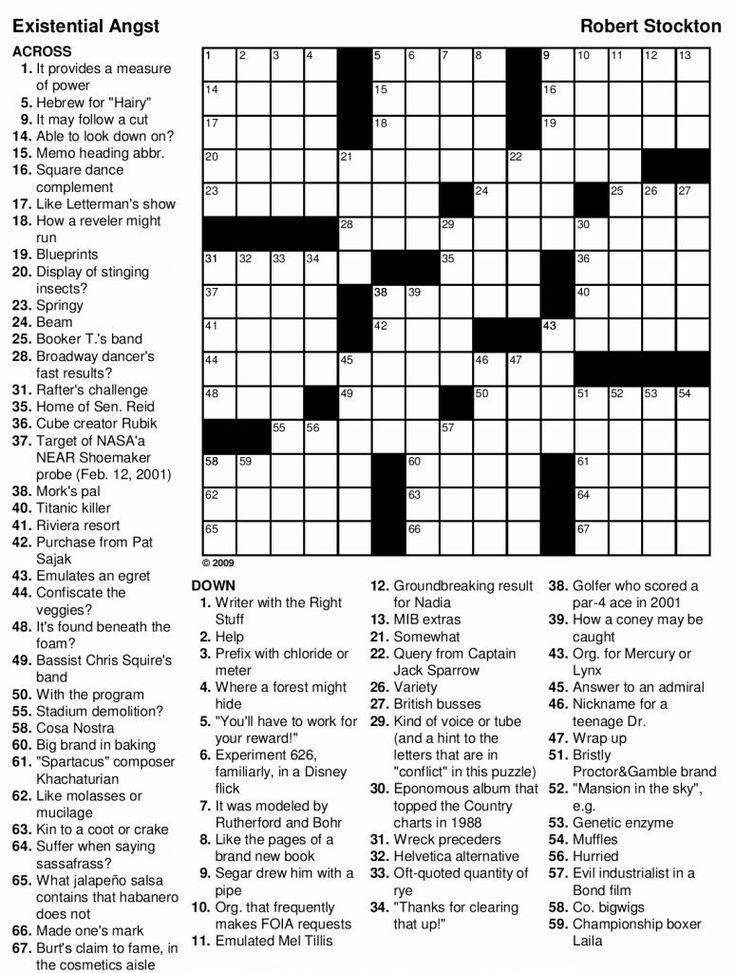 easy Crossword Puzzles for Adults - Best Coloring Pages For Kids for adults