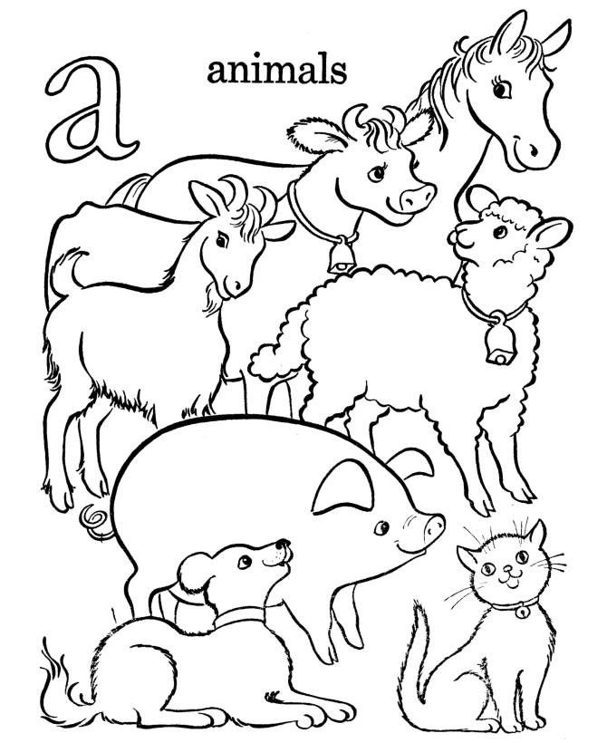 printable Free Printable Farm Animal Coloring Pages For Kids toddler