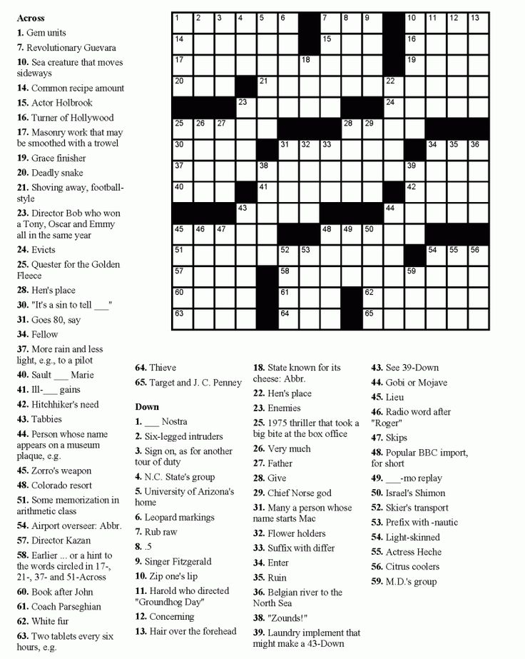for boys Crossword Puzzles for Adults - Best Coloring Pages For Kids for boys