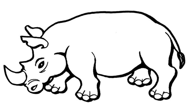 for girls Free Printable Rhinoceros Coloring Pages For Kids for adults
