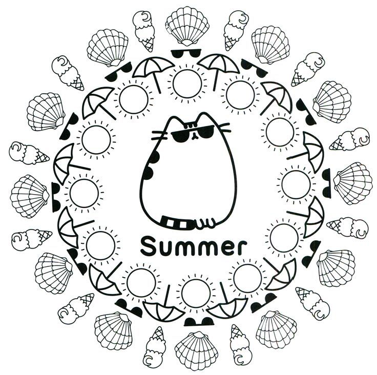 for girls Summer Coloring Pages for Kids. Print them All for Free. free