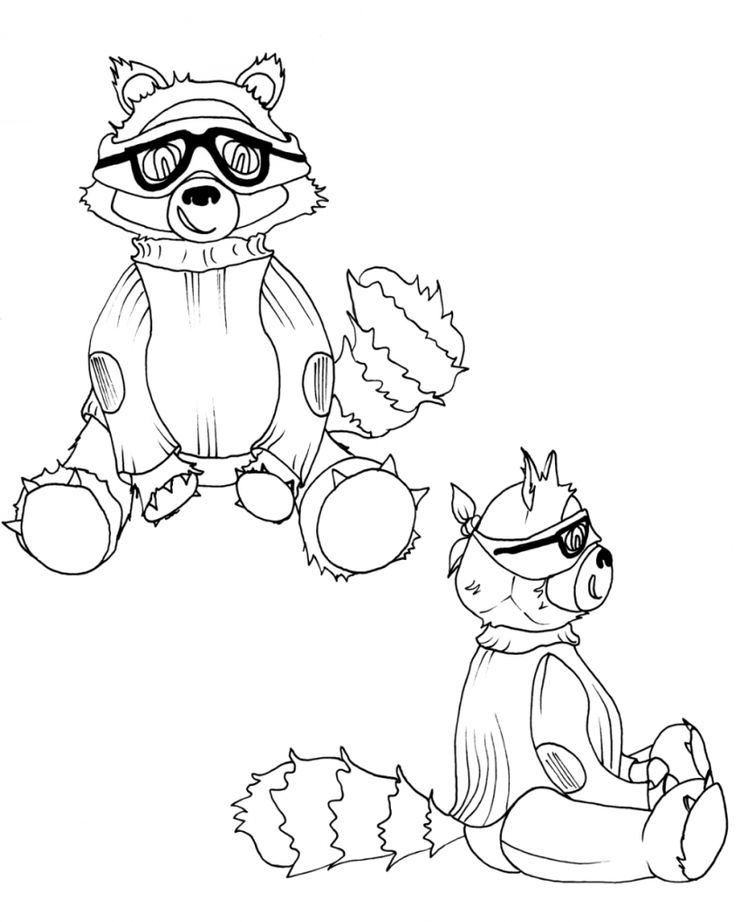for toddlers Free Printable Raccoon Coloring Pages For Kids online