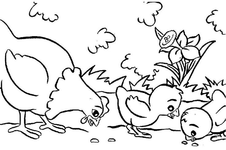 easy Free Printable Farm Animal Coloring Pages For Kids for adults