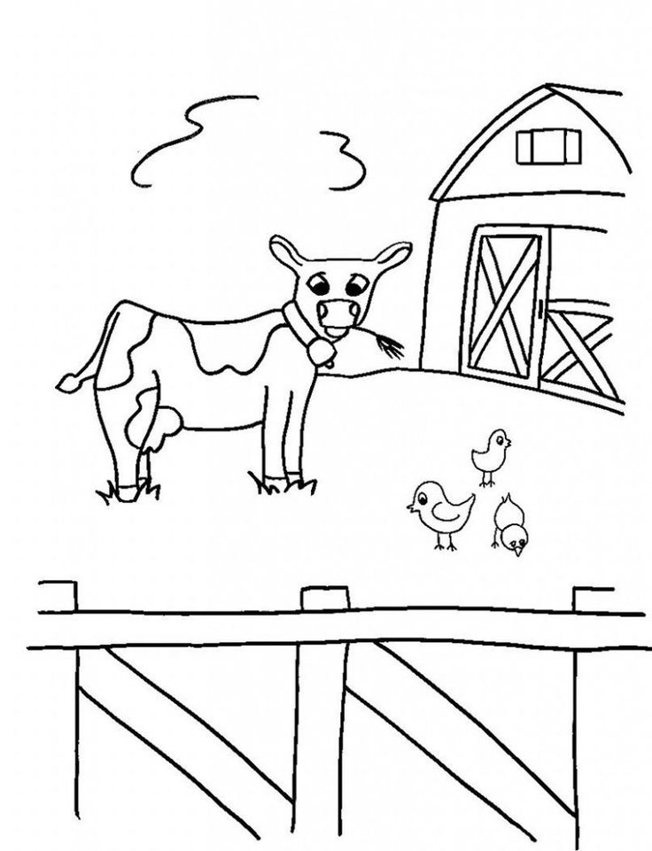simple Free Printable Farm Animal Coloring Pages For Kids for sunday school