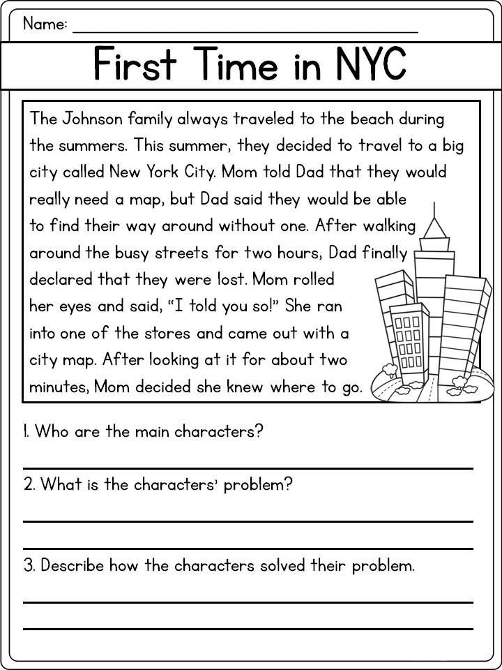 for adults Reading Comprehension Worksheets - Best Coloring Pages For K... for adults