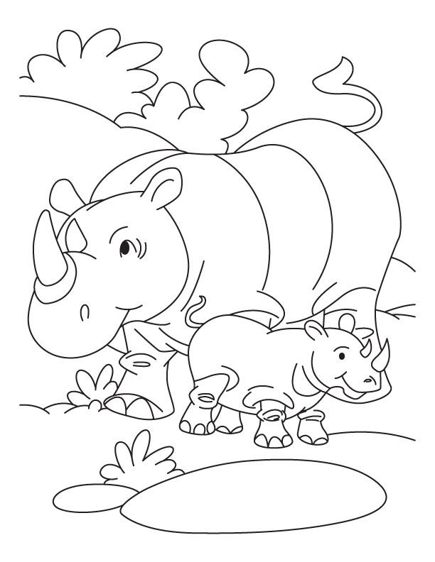 pdf Free Printable Rhinoceros Coloring Pages For Kids for toddlers