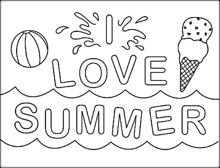 for boys Summer Coloring Pages for Kids. Print them All for Free. for sunday school