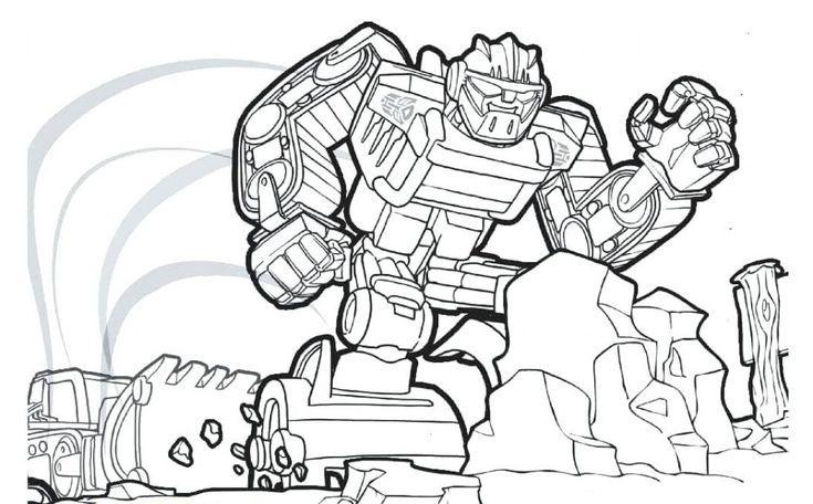 easy Rescue Bots Coloring Pages - Best Coloring Pages For Kids preschool
