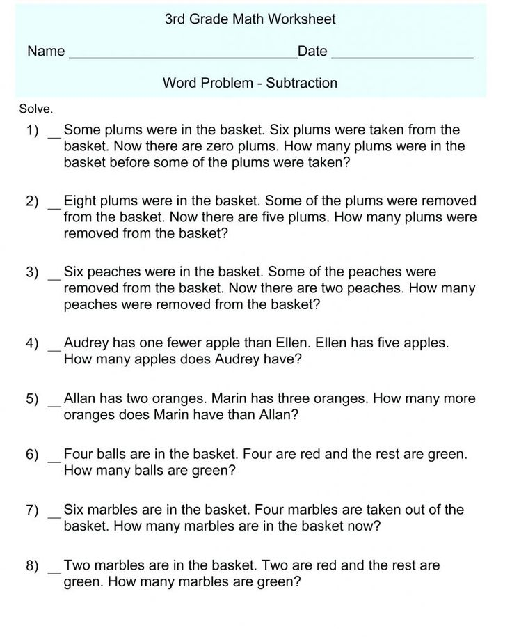to print out 3rd Grade Math Word Problems - Best Coloring Pages For Kids for kindergarten