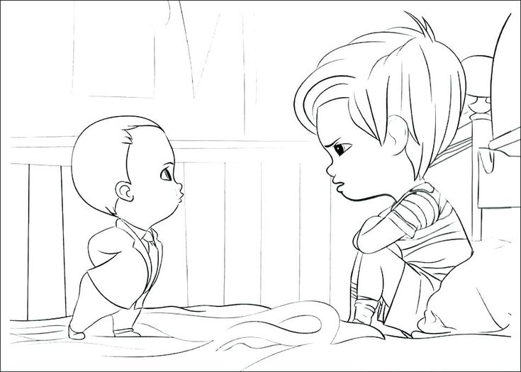 for kindergarten Boss Baby Coloring Pages - Best Coloring Pages For Kids for teens