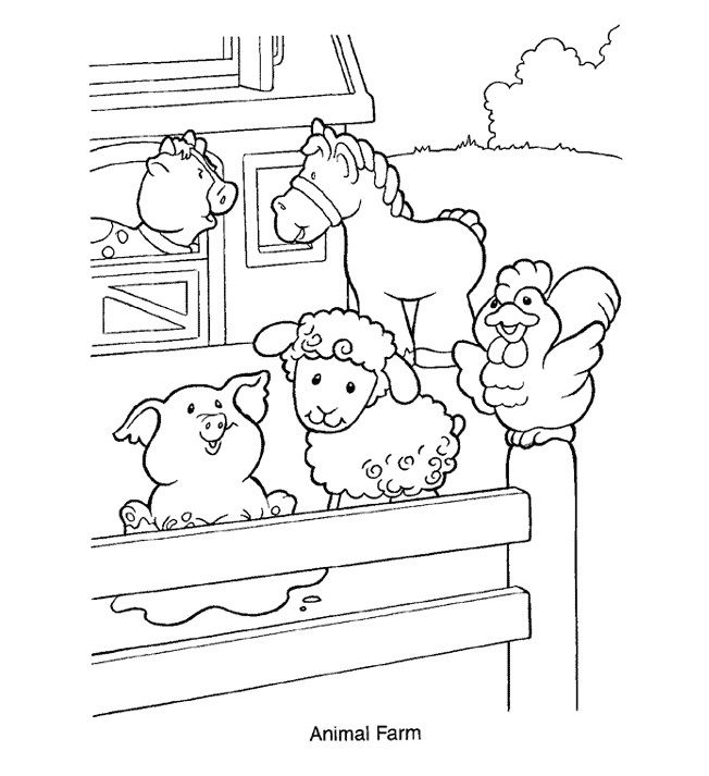 for kids Free Printable Farm Animal Coloring Pages For Kids already colored