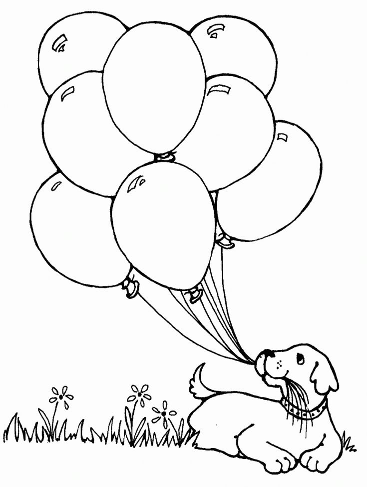 for kindergarten Balloon Coloring Pages - Best Coloring Pages For Kids for teens