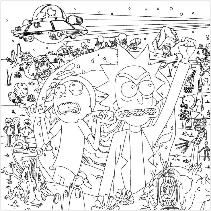 for adults Rick and Morty Coloring Pages – Best Coloring Pages For Kids already colored