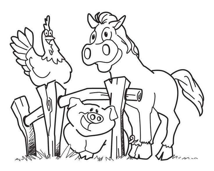for teens Free Printable Farm Animal Coloring Pages For Kids free