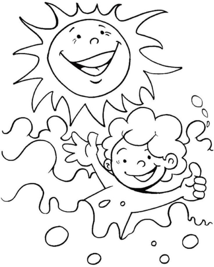 online Summer Coloring Pages for Kids. Print them All for Free. free printable
