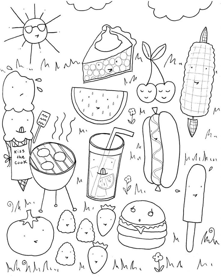 already colored Summer Coloring Pages for Kids. Print them All for Free. for toddlers