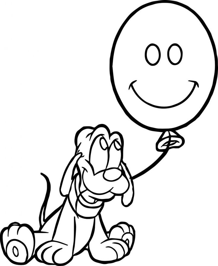 already colored Balloon Coloring Pages - Best Coloring Pages For Kids for kids