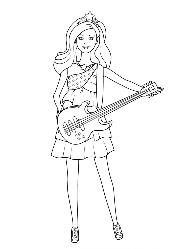 printable Barbie Princess Coloring Pages - Best Coloring Pages For Kid... preschool