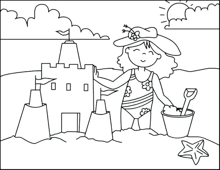 already colored Beach Coloring Pages - Beach Scenes & Activities online