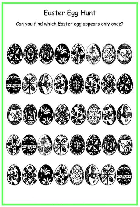 already colored Easter Puzzles - Best Coloring Pages For Kids for adults