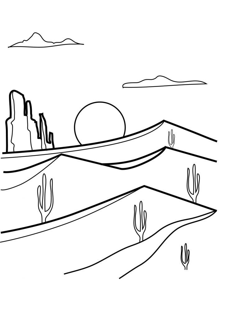 online Desert Coloring Pages - Best Coloring Pages For Kids for kids
