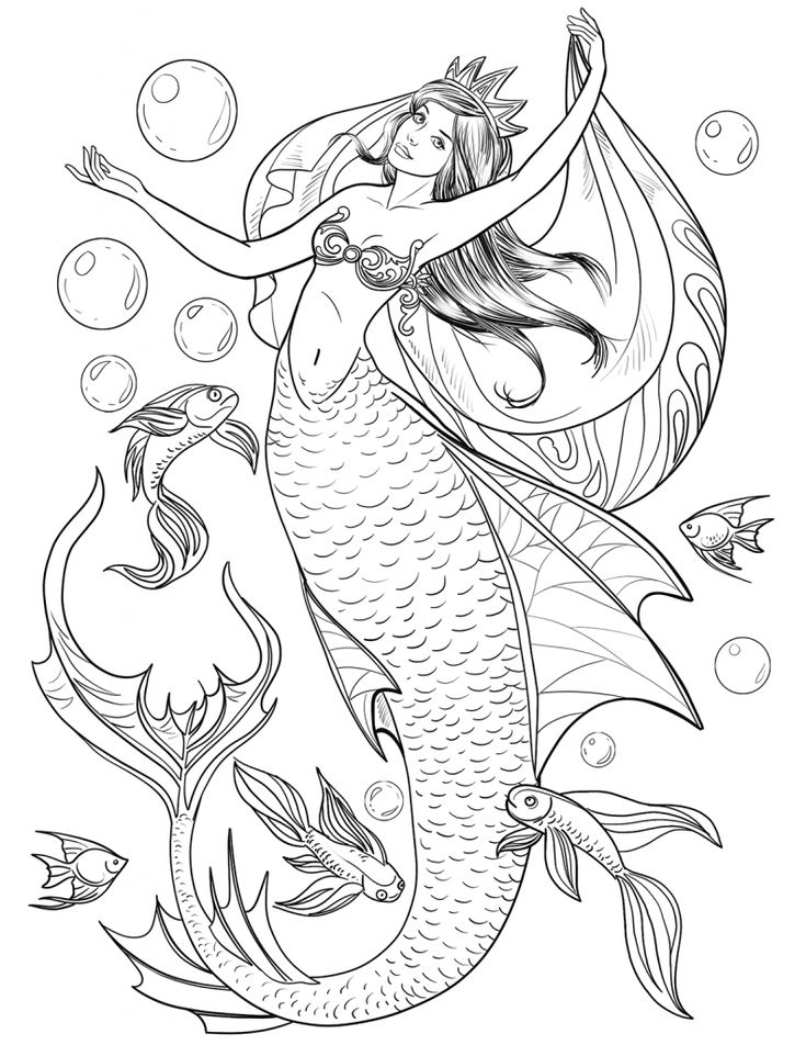for kindergarten Mermaid Coloring Pages for Adults - Best Coloring Pages For ... online