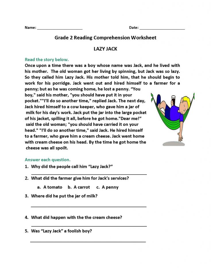 printable 2nd Grade Reading Worksheets - Best Coloring Pages For Kids printable