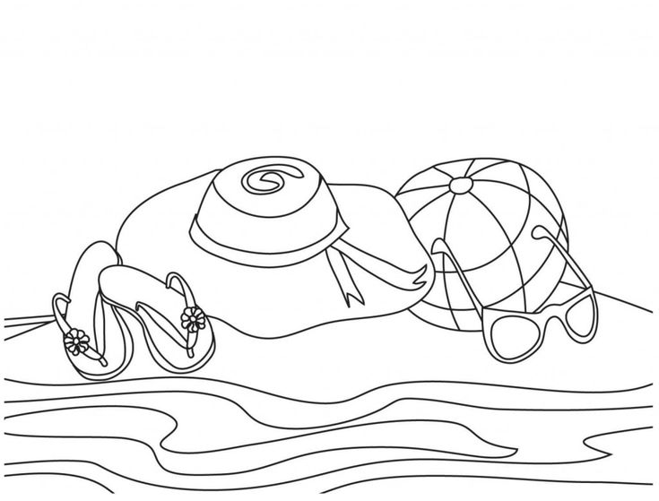 for toddlers Beach Coloring Pages - Beach Scenes & Activities already colored