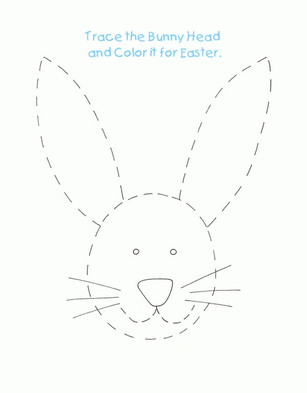 to print out Easter Preschool Worksheets - Best Coloring Pages For Kids already colored