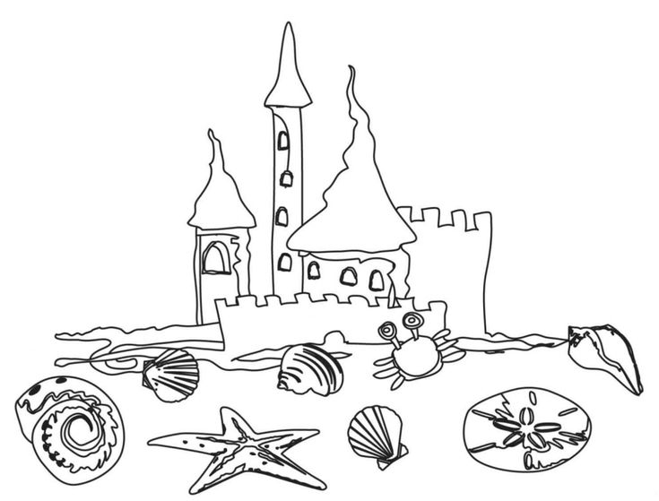 for kids Beach Coloring Pages - Beach Scenes & Activities for adults