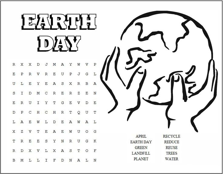 for toddlers Earth Day Word Search - Best Coloring Pages For Kids for teens