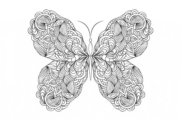 toddler Butterfly Coloring Pages for Adults - Best Coloring Pages Fo... free printable
