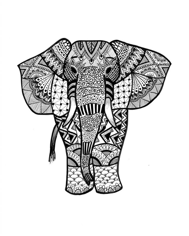 free printable Elephant Coloring Pages for Adults - Best Coloring Pages For... for toddlers