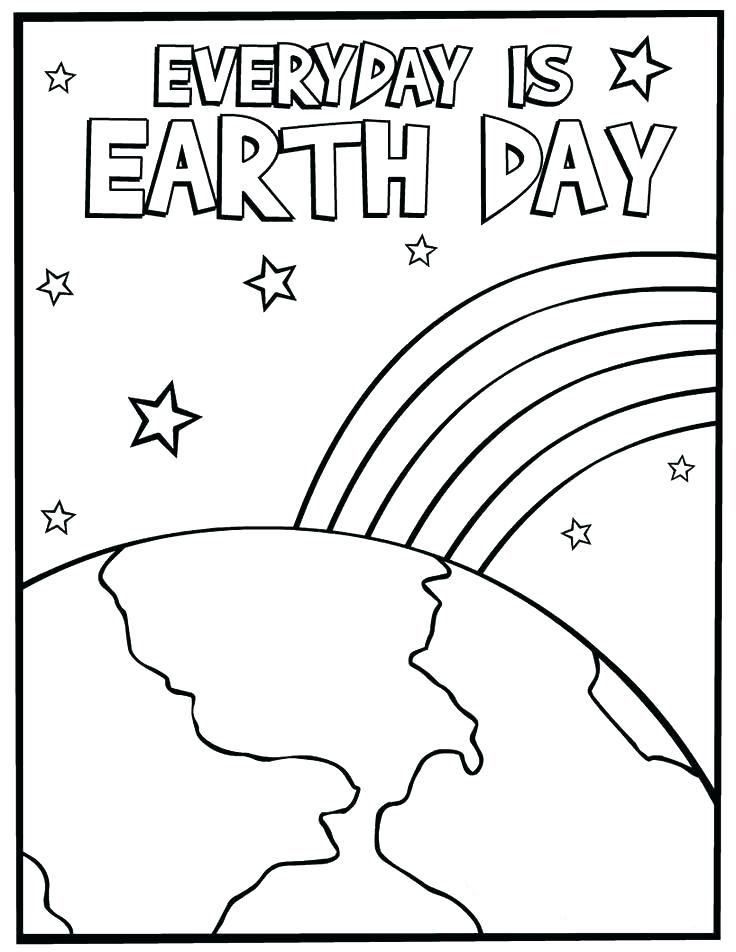 simple Earth Day Worksheets - Best Coloring Pages For Kids for kindergarten