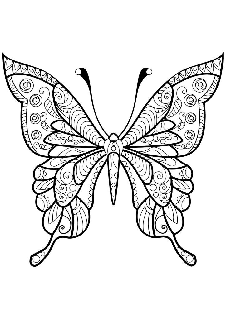 easy Butterfly Coloring Pages for Adults - Best Coloring Pages Fo... to print out