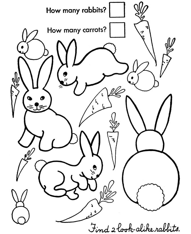 free printable Printable Easter Activities - Best Coloring Pages For Kids for kids
