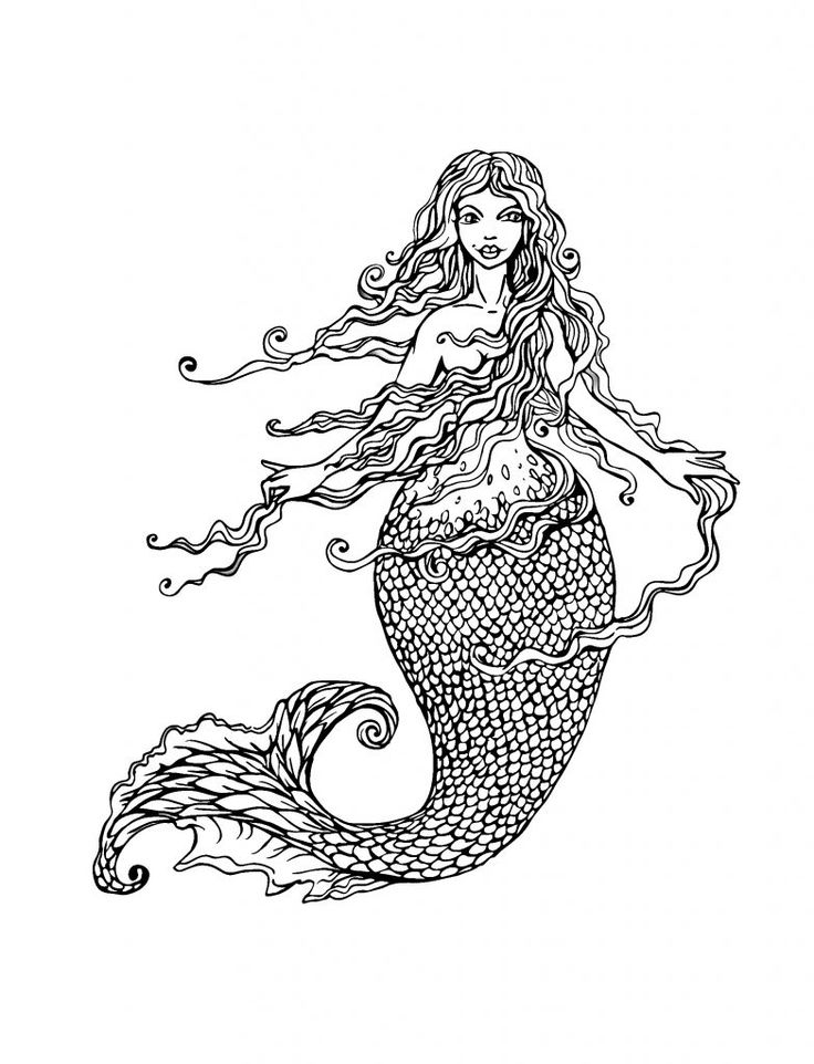 for sunday school Mermaid Coloring Pages for Adults - Best Coloring Pages For ... printable