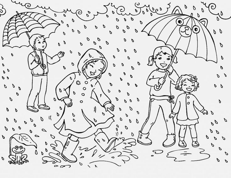 simple Rain Coloring Pages - Best Coloring Pages For Kids for boys
