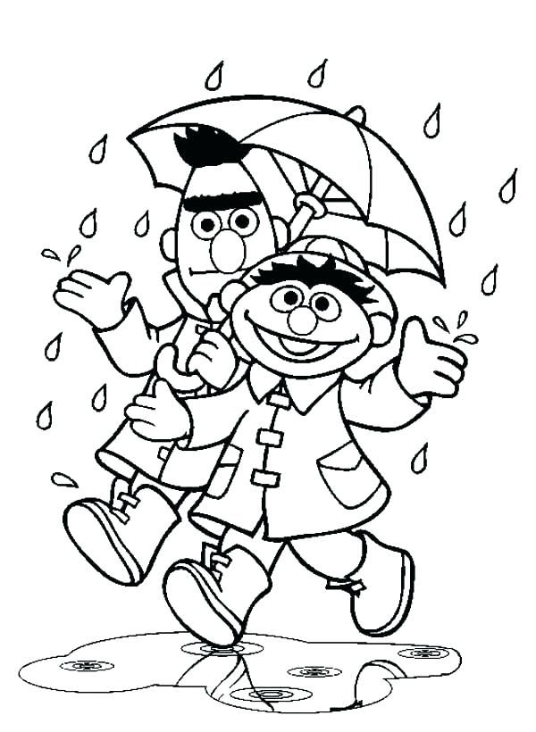simple Rain Coloring Pages - Best Coloring Pages For Kids toddler