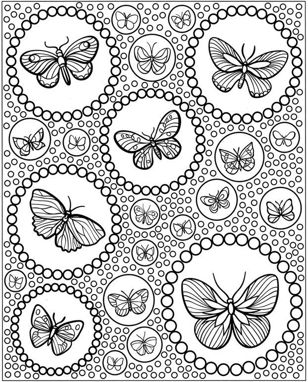 for girls Butterfly Coloring Pages for Adults - Best Coloring Pages Fo... toddler