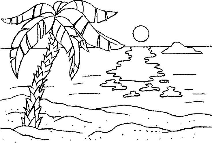 simple Beach Coloring Pages - Beach Scenes & Activities for toddlers