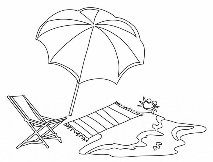 for kids Beach Coloring Pages - Beach Scenes & Activities for teens