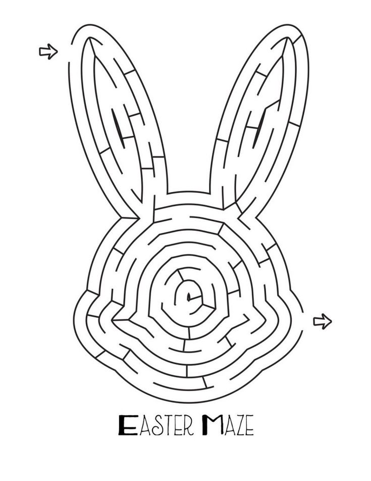 for toddlers Easter Mazes - Best Coloring Pages For Kids printable