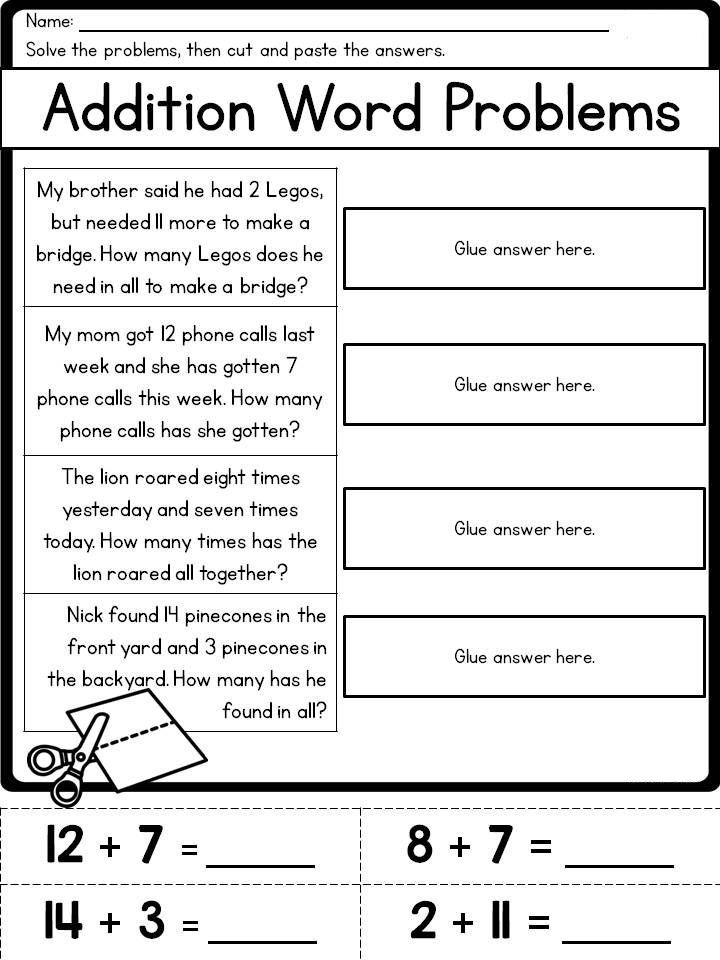 printable 2nd Grade Math Word Problems - Best Coloring Pages For Kids printable