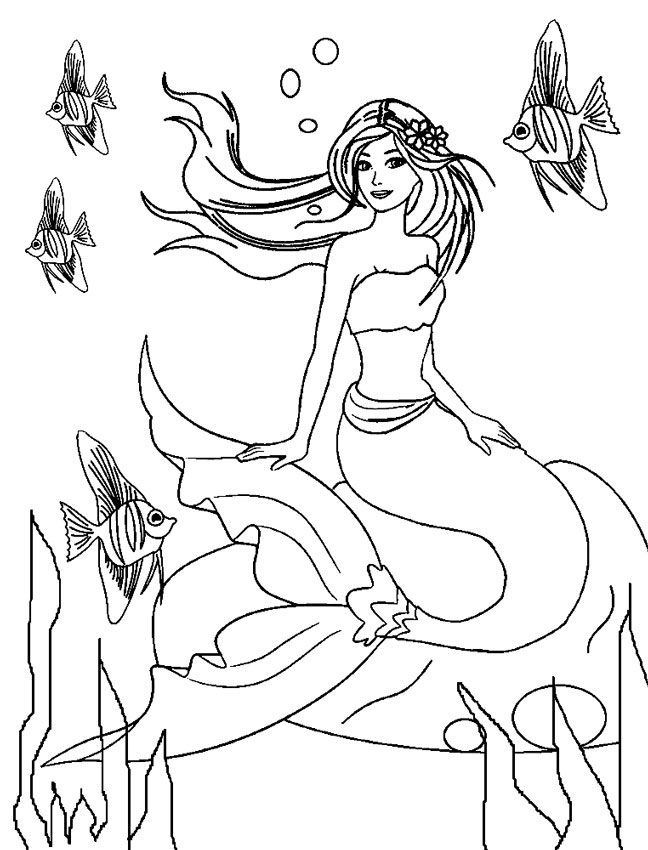 free Barbie Mermaid Coloring Pages - Best Coloring Pages For Kids for boys