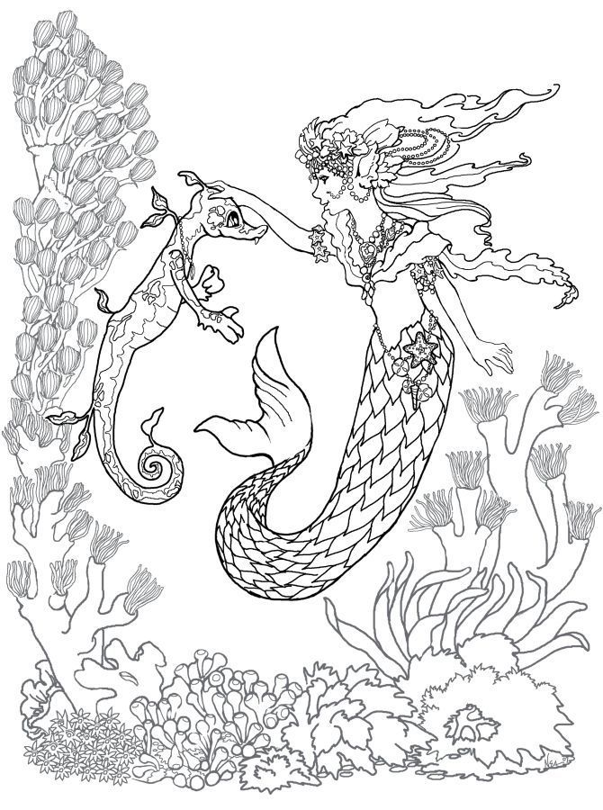 for boys Mermaid Coloring Pages for Adults - Best Coloring Pages For ... online