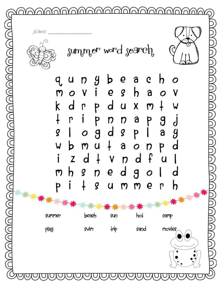 for kindergarten 1st Grade Word Search - Best Coloring Pages For Kids already colored